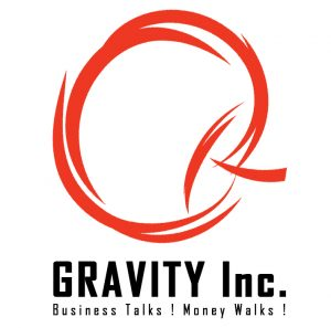 Gravity Inc Logo made by our Animation studio in Mumbai